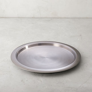 Hot/Cold 17-in. Round Stainless Steel Tray