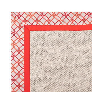 Parkdale Indoor/Outdoor Rug in Criss Cross Blush/Melon