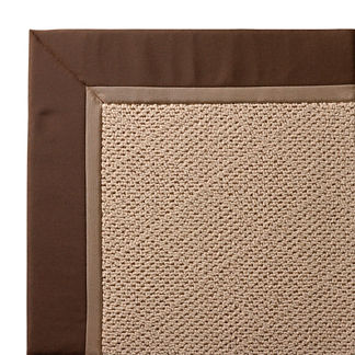 Outdoor Parkdale Rug in Sunbrella Cocoa White Wicker