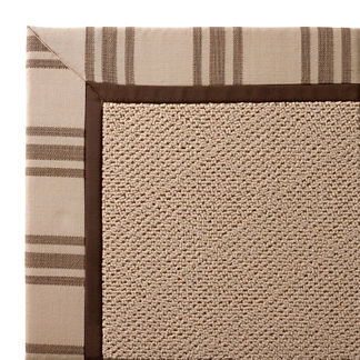 Indoor/Outdoor Parkdale Rug in Sunbrella Hampton Dove White Wicker