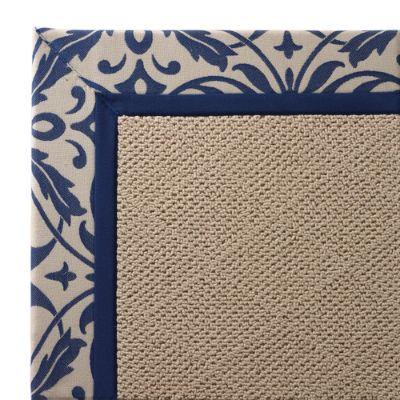 Indoor Outdoor Parkdale Rug In Sunbrella Softly Elegant Cobalt White Wicker Frontgate
