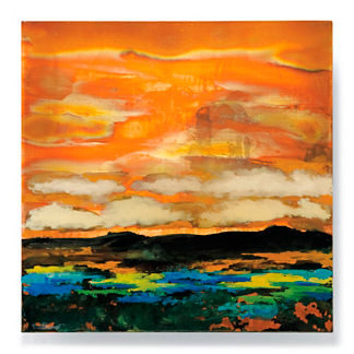 Copper Landscapes Outdoor Wall Art in Blue