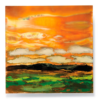Copper Landscapes Outdoor Wall Art in Green