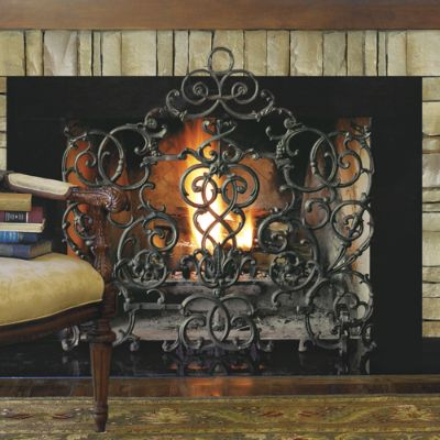 Hand Forged Iron Fireplace Screen Frontgate