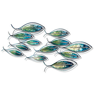 School of Fish All-weather Wall Art, Set of Two