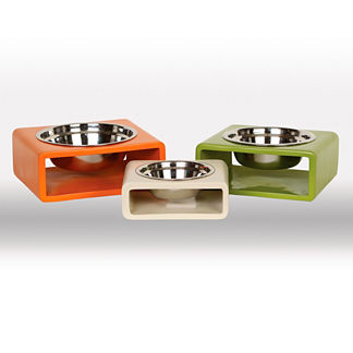 Modern Square Pet Feeder by Unleashed Life