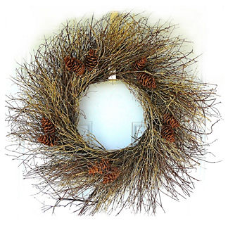 Natural and Gold Twigs Wreath