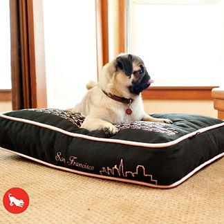 Rectangular Skyline Pet Bed