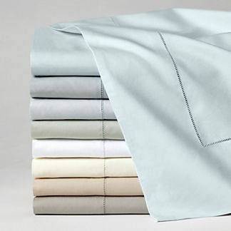 SFERRA Celeste Egyptian Cotton Percale Flat Sheet