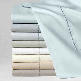 SFERRA Celeste Egyptian Cotton Percale Fitted Sheet