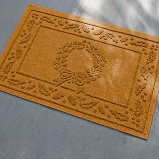 Water & Dirt Shield Wreath Mat