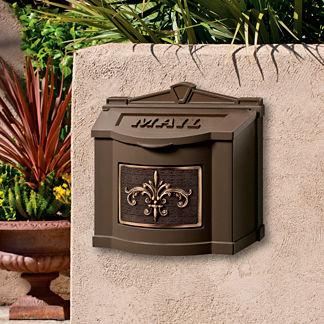 Fleur-de-Lis Wall-mount Mailbox