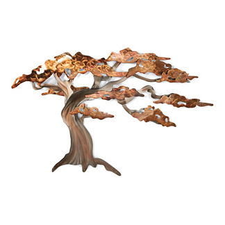 Windswept Pine Wall Art by Copper Art