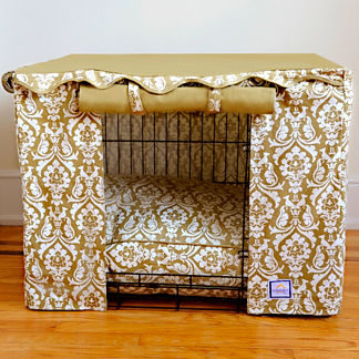 Damask Pet Crate Cover