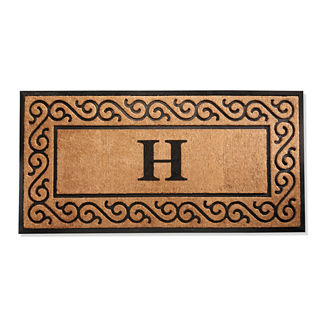 Hanna Scroll Border Monogrammed Entry Mat