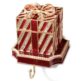 Red Gift Box Stocking Holder