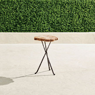 Petrified Wood Tripod Tables
