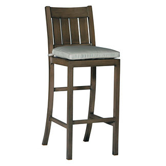Croquet Aluminum Bar Height Bar Stool with Cushion by Summer Classics (30