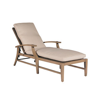 Croquet Aluminum Chaise Lounge with Cushions by Summer Classics