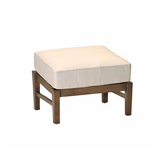 Croquet Aluminum Ottoman with Cushion by Summer Classics