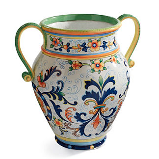 Painted Urn with Handles