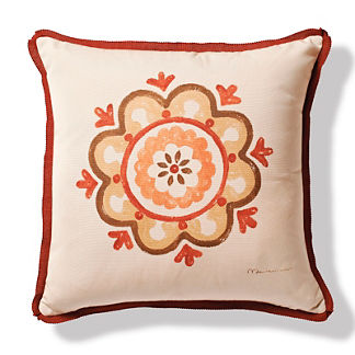 Medallion Brick Outdoor Pillow