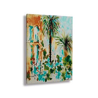 Double Palm Savannah Canvas Wall Art