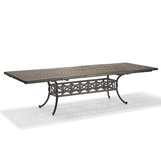 Carlisle Extending Cast-top Dining Table in Slate Finish