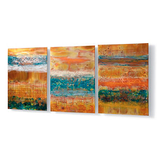Blue Skies Copper Panels, Set of Three