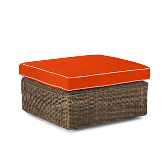 Hyde Park Ottoman with Cushion