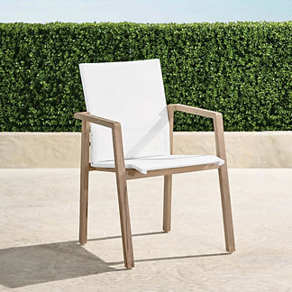 Resort Newport Teak Dining Chairs, Set of Two