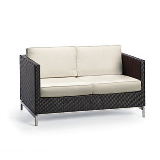 Metropolitan Loveseat With Cushions In Panther Finish, Special Order
