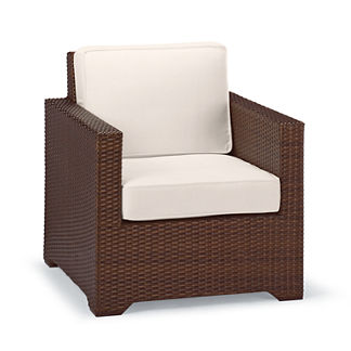 Palermo Petite Lounge Chair with Cushions in Bronze Finish