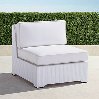 Palermo S/2 Center Chairs with Cushions in White Finish, Special Order