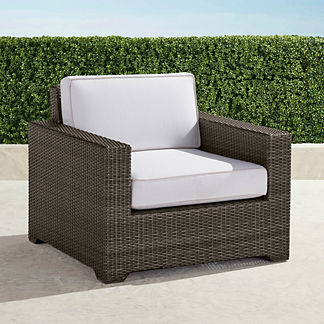 Palermo Lounge Chair with Cushions in Bronze Finish