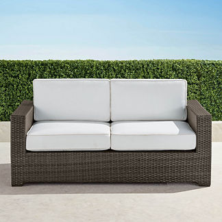 Palermo Loveseat with Cushions in Bronze Finish, Special Order