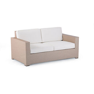 Palermo Loveseat with Cushions in Linen Finish, Special Order