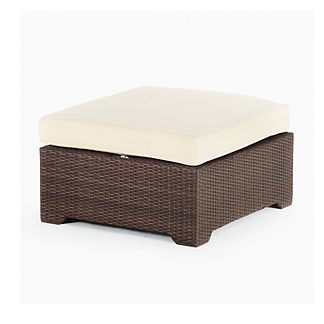 Palermo Medium Ottoman with Cushion in Bronze Finish
