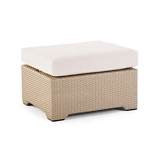 Palermo Medium Ottoman with Cushion in Linen Finish, Special Order