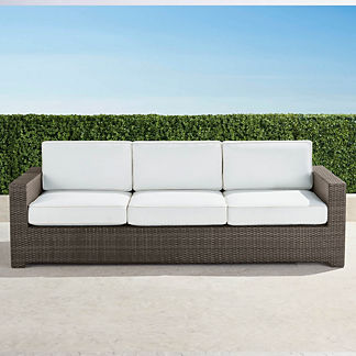 Palermo Sofa with Cushions in Bronze Finish, Special Order