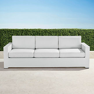 Palermo Sofa with Cushions in White Finish, Special Order