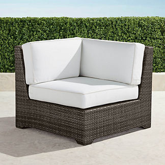 Palermo Corner Chair with Cushions in Bronze Finish