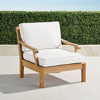 Cassara Lounge Chair with Cushions in Natural Finish, Special Order