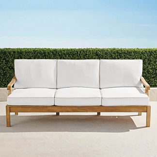 Cassara Sofa with Cushions in Natural Finish, Special Order