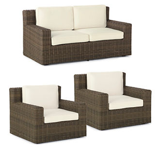 Hyde Park 3-pc. Loveseat Set in Ocean Grey Finish