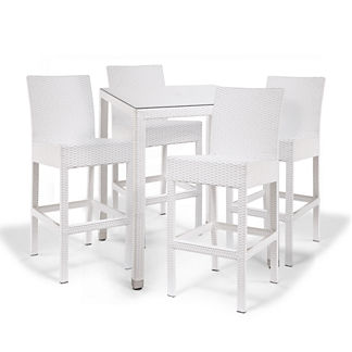 Palermo 5-pc. Bar Set in White Finish