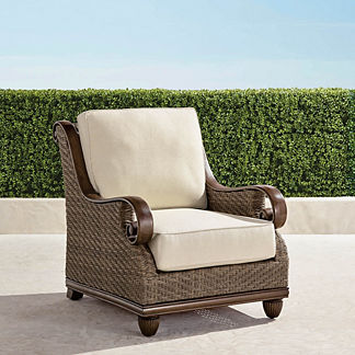 St. Martin Lounge Chair with Cushions, Special Order