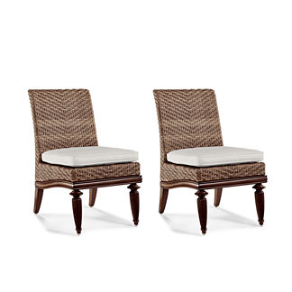 St. Martin Set of Two Dining Side Chairs with Cushions, Special Order