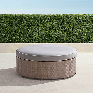 Pasadena Ottoman in Dove Finish