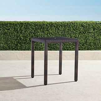 Palermo Square Bar Table in Bronze Finish